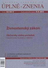 UZZ 22/2013 Živnostenský zákon