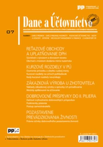 Dane a Účtovníctvo 7/2013
