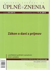 UZZ 25/2013 Zákon o dani z príjmov