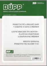 DUPP 11-12/2013 Poskytnuté a prijaté dary v zákone o dani z príjmov