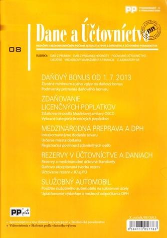 Dane a Účtovníctvo 8/2013