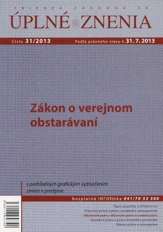 UZZ 31/2013 Zákon o verejnom obstarávaní