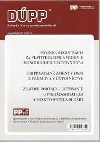 DUPP 13/2013 Povinná registrácia za platiteľa DPH a vedenie jednoduchého účtovníctva
