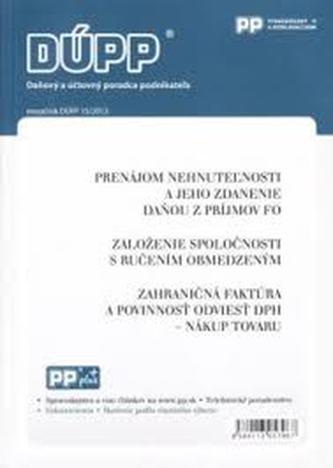 DUPP 15/2013 Prenájom nehnutelnosti a jeho zdanenie daňou z príjmov FO