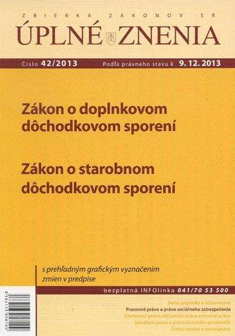 UZZ 42/2013 Zákon o doplnkovom dôchodkovom sporení