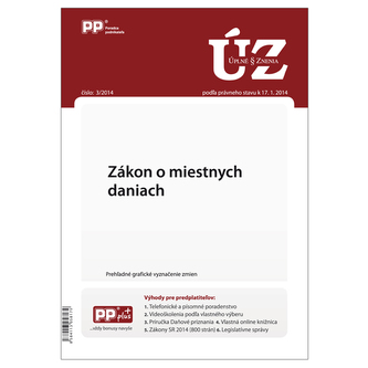 UZZ 3/2014 Zákon o miestnych daniach