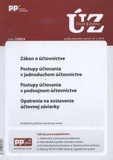 UZZ 7/2014 zákon o účtovníctve, postupy účtovania v jednoduchom účtovníctve, postupy účtovania v pod