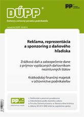 DUPP 10/2014 Reklama, reprezentácia a sponzoring z daňového hľadiska