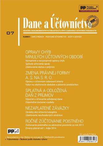 Dane a Účtovníctvo 7/2014