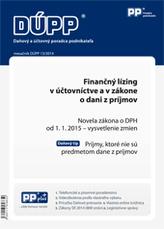 DUPP 13/2014 finančný lízing v účtovníctve a v zákone o dani z príjmov