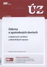 UZZ 25/2014 Zákony o spotrebných daniach