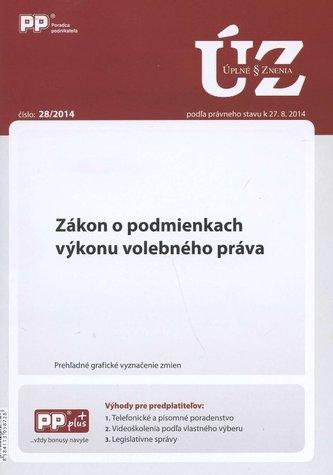 UZZ 28/2014 Zákon o podmienkach výkonu volebného práva