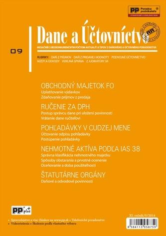 Dane a účtovníctvo 9/2014