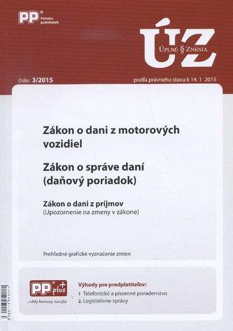 UZZ 3/2015 Zákon o dani z motorových vozidiel. Zákon o správe daní (daňový poriadok)
