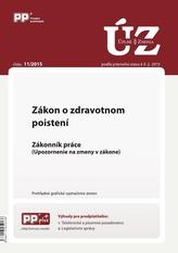 UZZ 11/2015 Zákon o zdravotnom poistení