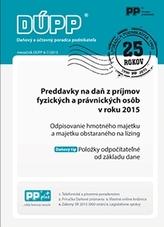 DUPP 6-7/2015 Preddavky na daň z príjmov fyzických a právnických osôb v roku 2015