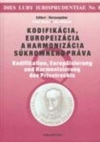 Kodifikácia, europeizácia a harmonizácia súkromného práva