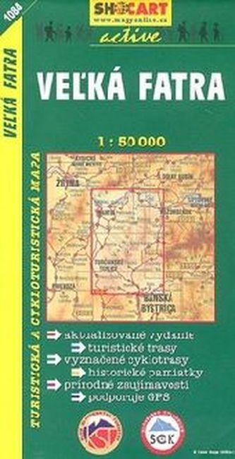 Turistická mapa SHOCart Slovensko 1084 Velká Fatra 1:50 000