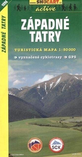 Turistická mapa SHOCart Slovensko 1096 Západné Tatry 1:50 000