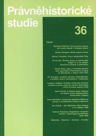 Právněhistorické studie 36