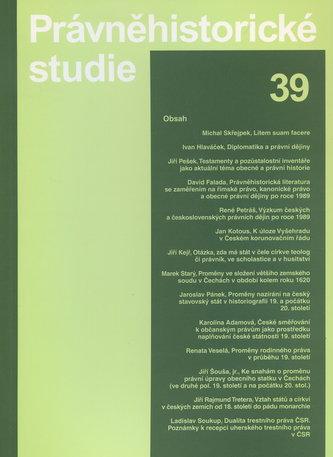 Právněhistorické studie 39