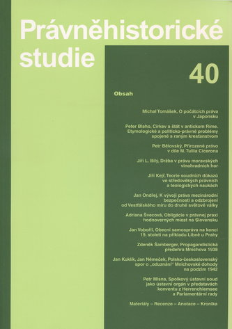 Právněhistorické studie 40