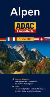 Alpy/mapa 1:750T ADAC