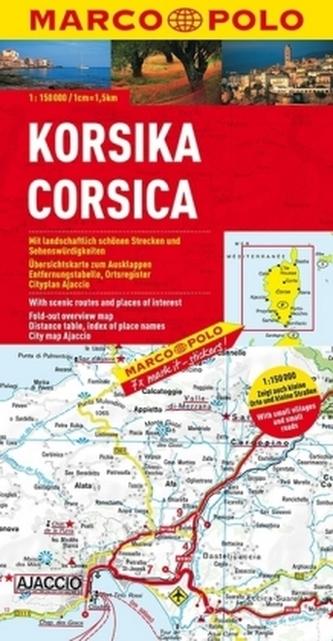 Korsika - mapa 1:150000