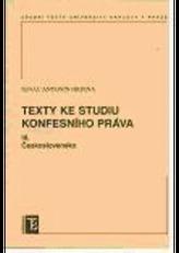 Texty ke studiu konfesního práva III. Československo