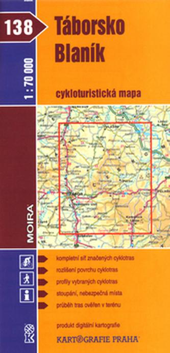 Táborsko  Blaník cykloturistická mapa 1:70 000