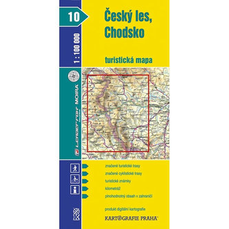 Český les, Chodsko  turistická mapa 1:100 000
