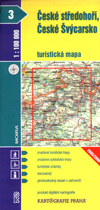 1:100T ( 3)-České středohoří,České Švýcarsko (turistická mapa)