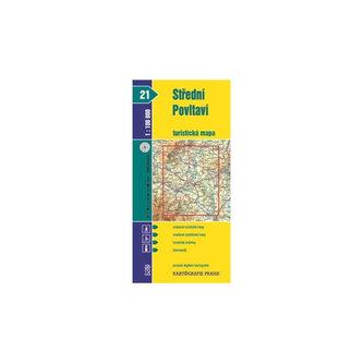 Střední Povltaví turistická mapa 1:100 000