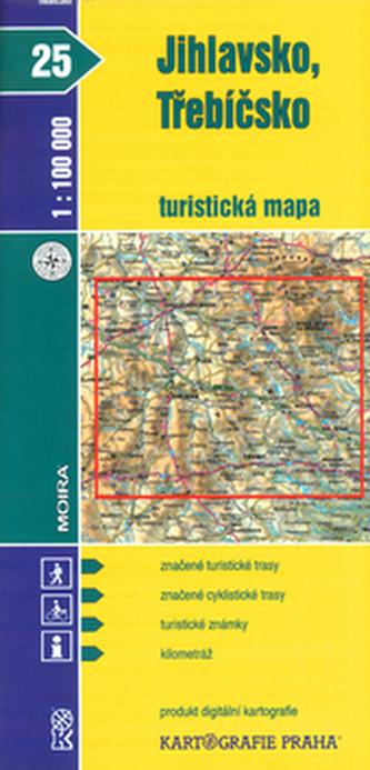 Jihlavsko, Třebíčsko 1:100 000