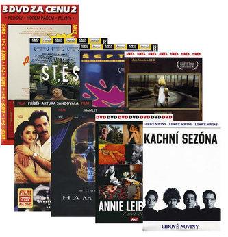 Komplet filmů 8DVD (Pelíšky + Horem pádem + Mlýny + Anne Leibovitz + Pro lásku či pro vlast + Hamlet + Kachní sezóna + Štěstí + Šeptej + Jan Saudek)