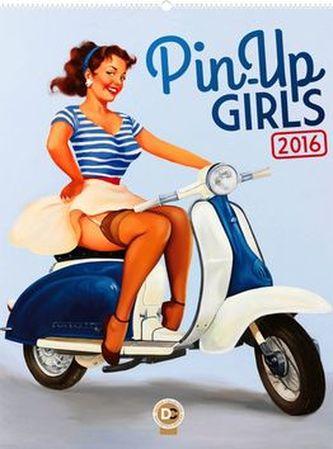 Kalendář nástěnný 2016 - Pin-Up Girls - Fiona Stephenson, 48 x 64 cm