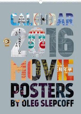 Kalendář nástěnný 2016 - Movie Posters - Oleg Slepcoff, 48 x 64 cm