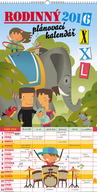 Rodinný plánovací XXL - nástěnný kalendář 2016