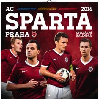 Kalendář nástěnný 2016 - AC Sparta Praha, poznámkový  30 x 30 cm