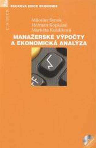 Manažerské výpočty a ekonomická analýza
