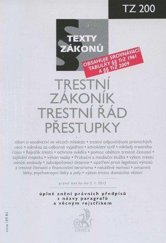 Trestní zákoník, Trestní řád, Přestupky, právní stav ke dni 5.1.2012