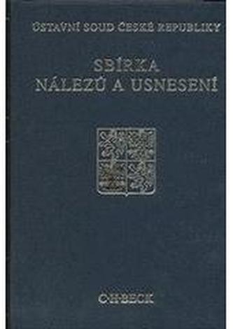 Sbírka nálezů a usnesení ÚS ČR, svazek 54