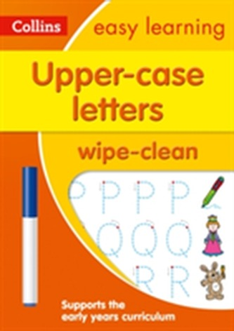 Upper Case Letters Age 3-5 Wipe Clean Activity Book - Collins Easy Learning