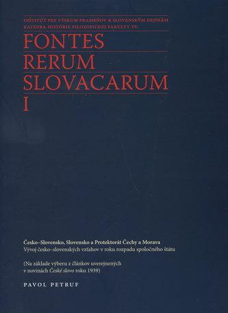 Fontes Rerum Slovacarum I