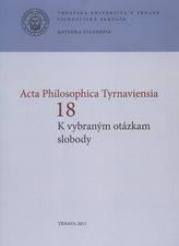 Acta Philosophica Tyrnaviensia 18
