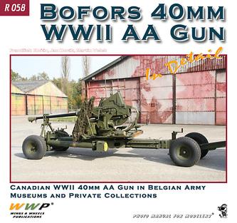 Bofors 40mm WW II. AA gun
