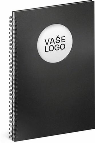 Notes Twin černá/bílá, 21 x 29,7 cm - neuveden