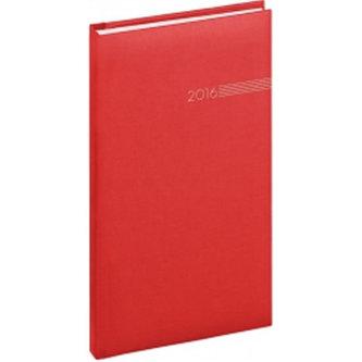 Diář 2016 - Capys - Kapesní, červená,  9 x 15,5 cm