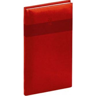Diář 2016 - Aprint - Kapesní, červená,  9 x 15,5 cm