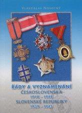 Řady a vyznamenání Československa 1918-1948 Slovenské republiky 1939-1945